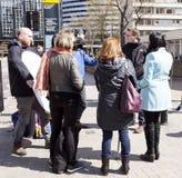Jour 2 de la grève de 48 heures par Junior Doctors Image libre de droits