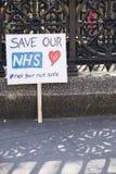 Jour 2 de la grève de 48 heures par Junior Doctors Images stock
