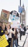Jour 2 de la grève de 48 heures par Junior Doctors Images libres de droits