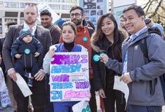 Jour 2 de la grève de 48 heures par Junior Doctors Photo stock