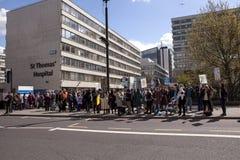 Jour 2 de la grève de 48 heures par Junior Doctors Photographie stock