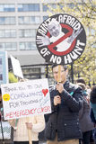Jour 2 de la grève de 48 heures par Junior Doctors Image stock