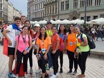 Jour 2016 de la jeunesse du monde Filles philippines en Pologne Photo libre de droits