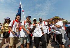 Jour 2016 de la jeunesse du monde - pèlerins de cuisinier Island Photo stock