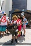 Jour 2016 de la jeunesse du monde - pèlerins de cuisinier Island Images stock