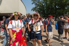 Jour 2016 de la jeunesse du monde - pèlerins de cuisinier Island Image stock