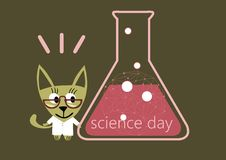 Jour de la Science, chimiste de jour illustration stock