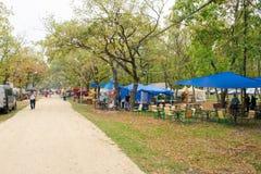Jour de la ville de Slavyansk-sur-Kuban, les festivités folkloriques dans la ville se garent Représentation des agglomérations ru photos libres de droits