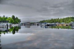 Jour de lac Image libre de droits