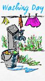 Jour de lavage heureux Image libre de droits