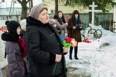 Jour de libération dans un village russe dans la région de Kaluga le 29 janvier 2016 Image stock
