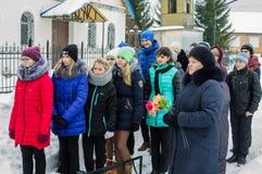 Jour de libération dans un village russe dans la région de Kaluga le 29 janvier 2016 Photo libre de droits