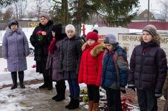 Jour de libération dans un village russe dans la région de Kaluga le 29 janvier 2016 photographie stock libre de droits