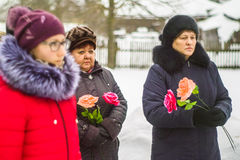 Jour de libération dans un village russe dans la région de Kaluga le 29 janvier 2016 photos libres de droits