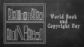 Jour de livre et de copyright du monde Photographie stock libre de droits