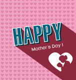 Jour de mères heureux Photos stock