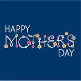Jour de mères heureux de vecteur Images libres de droits