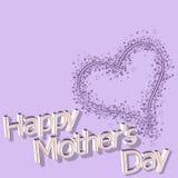 Jour de mères heureux le 14 mars Images stock