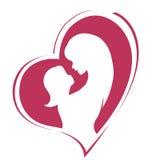 Jour de mères heureux Maternité et enfance Illustration colorée Image libre de droits