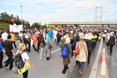 Jour de marathon Image libre de droits