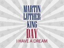 Jour de Martin Luther King J'ai un rêve Vecteur Photos stock