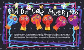 Jour de Mexicain traditionnel mort Halloween Dia De Los Muertos Illustration Libre de Droits