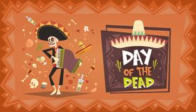 Jour de Mexicain traditionnel mort Halloween Dia De Los Muertos Holiday Illustration Stock