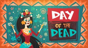 Jour de Mexicain traditionnel mort Halloween Dia De Los Muertos Holiday Illustration Libre de Droits