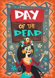 Jour de Mexicain traditionnel mort Halloween Dia De Los Muertos Holiday Party Illustration Libre de Droits