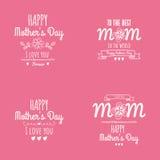 Jour de mère heureux Image libre de droits