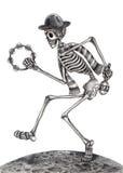 Jour de musique de danse d'art de crâne des morts Images libres de droits