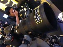 Jour de Nikon Photographie stock