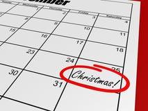 Jour de Noël de calendrier Photo stock