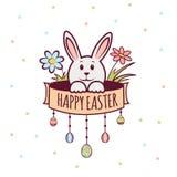 Jour de Pâques avec rabbit-02 Image stock