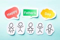 Jour de père heureux Photos stock