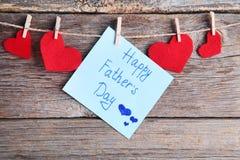 Jour de pères heureux Photo stock