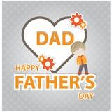 Jour de pères heureux Image libre de droits