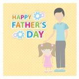 Jour de pères heureux Images libres de droits