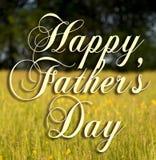 Jour de pères heureux Photographie stock libre de droits