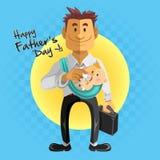 Jour de pères heureux Photos stock