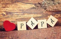 Jour de pères heureux de carte de voeux Photographie stock libre de droits
