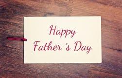 Jour de pères heureux de carte de voeux Photographie stock