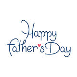 Jour de pères heureux de vecteur Photos libres de droits