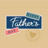 Jour de pères heureux de vecteur Photo libre de droits