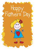 Jour de pères heureux - fille Photo stock