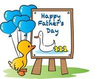 Jour de pères heureux heureux Photographie stock libre de droits