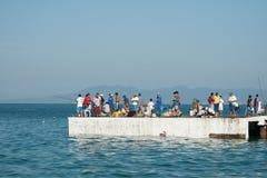 Jour de pêche Photos libres de droits