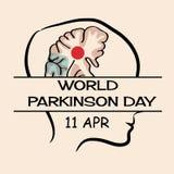 Jour de Parkinson du monde illustration de vecteur