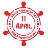 Jour de Parkinson du monde illustration libre de droits