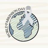 Jour de Parkinson du monde illustration stock
